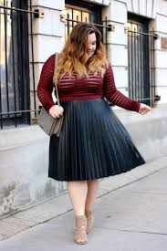 leather pleats natalie in the city a chicago petite plus size fashion blog by natalie craig