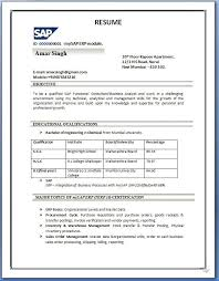 Sample Resume Format For Experienced Engineers Topshoppingnetwork Com