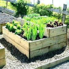 tiered raised garden bed 3 cedar