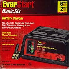 amazon com everstart wm 82 6 basic six battery charger automotive everstart wm 82 6 basic six battery charger