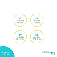 Simple Joys Carters Size Chart Amazon Com Simple Joys By Carters Toddler Boys 2 Pack