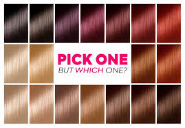 Dark Brown Red Hair Color Chart How To Pick The Best Hair Colour From The Hair Colour Chart