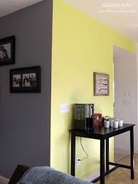 ... Contemporary Yellow Accent Wall Grey Bedroom With Yellow Accent Wall ...