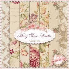 179 best Quilt Gate Fabrics Rose patterns images on Pinterest ... & Mary Rose Amelia Cream 7 FQ Set By Quilt Gate Fabrics Adamdwight.com