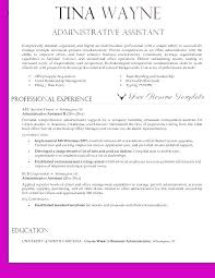 Administrative Resume Templates Impressive Resume Templates For Administrative Assistant