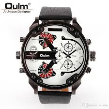 genuine oulm 3548 mens watches large dial military army quartz genuine oulm 3548 mens watches large dial military army quartz watch leather watchband latest fashion leisure best deal on watches watches deal from wuxtin