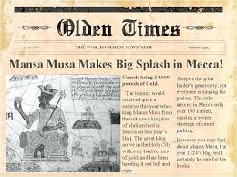 Old Time Newspaper Template Word Ww1 Newspaper Template Westcoastgroup Co