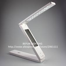 compact design portable book reading lamp folding led eye protection table lamp time display cool desk