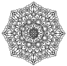 Coloring Pages For Adults Online Free Mandalas Drawing Excelent