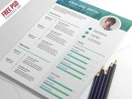 Format Modern Resume Free Elegant And Modern Cv Resume Template In Photoshop Psd Format
