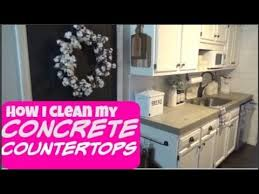 how i clean my concrete countertops farmhouse kitchen farmhouse decor farmhouse 2018