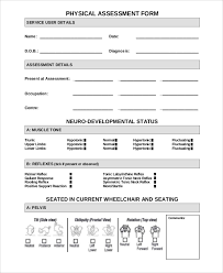 Sample Assessment Form Sample Physical Assessment Form 7 Documents In Pdf