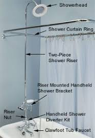 clawfoot tub shower fixtures. clawfoot tub showers: add a shower to faucet fixtures e