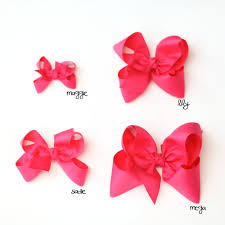 Size Comparison Chart Three Sisters Bows