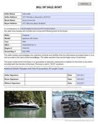 what is a bill of sale boat bill of sale watercraft