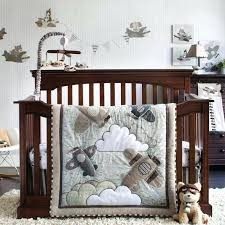aviator crib bedding set airplanes flying infant baby boys aviation nursery 4 infant crib bedding set