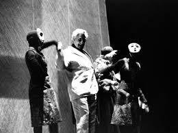 1966/67 I giganti della montagna di Luigi Pirandello, regia di Giorgio  Strehler, maschere di Carlo Schiavon e Luisa Spinatelli, foto Luigi C…