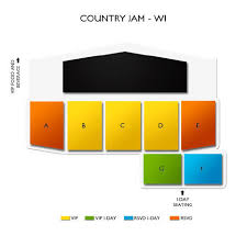 Country Jam Vip Seating Chart Country Jam 3 Day Pass 7 16 7 18 Eau Claire Tickets