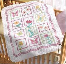 St&ed Cross Stitch including many discontinued kits & Sophie Crib Cover Stamped Cross stitch Kit Adamdwight.com