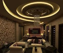 gypsum board false ceiling design ideas with led lighting for living rooms