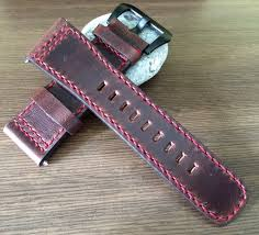 leather watch strap 28mm leather watch band brown watch band 28mm watch strap 28mm watch band free