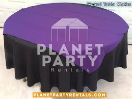 12 round black tablecloths with overlay van nuys