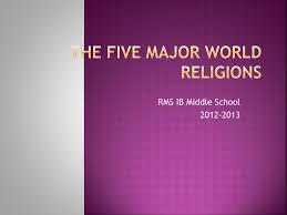 Five Major Religions Chart The Five Major World Religions