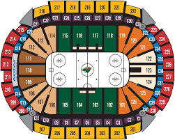 Mn Wild Seating Chart With Seat Numbers Seating Charts Xcel Energy Center