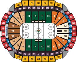 xcel energy center hockey seating map jpg