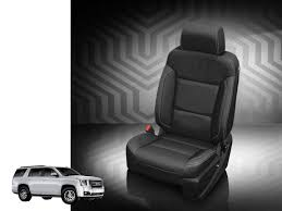 katzkin leather seat upholstery for the gmc yukon with third row seating will give your gmc truck a custom interior as unique as you choose
