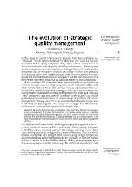 Which Quality Guru Was Heavily Involved With Quality Control Charts Pdf The Evolution Of Strategic Quality Management