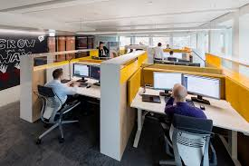 work office design. The Focus Space Is A Desk Area Where Employees Can Work On Their Own Projects While Still Being Part Of Team Environment. Office Design