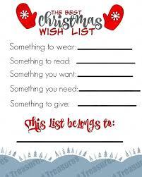 Gift List Template Christmas Word Free Webbacklinks Info