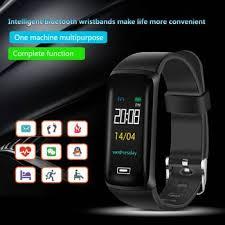 screen smart bracelet watch fitness tracker heart rate blood pressure monitor bluetooth smartband