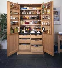 wooden free standing pantry