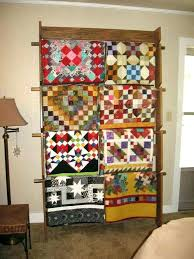 wall quilt rack designs amish mounted racks oak hanger wall quilt rack