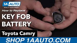 How to Replace Key Fob Battery 09 Toyota Camry - YouTube