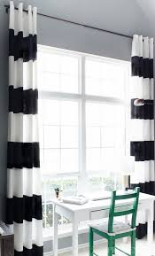 Beautiful Black And White Curtains Striped Throughout Decorating