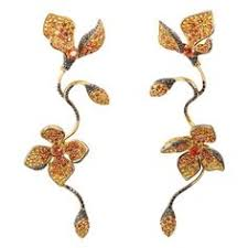 stefan hafner long fl yellow sapphire gemstone dangle earrings