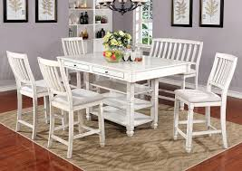 517948 Kaliyah Antique White Counter Height Table