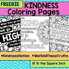 Kindness Coloring Pages Kindnessnation Weholdthesetruths Tpt