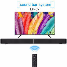 LP-09 Sound Bar Subwoof Bluetooth Speaker Home TV Echo Wall Soundbar  Wall-mounted Remote Control U-disk Plugging Speaker: Buy Online at Best  Price in UAE - Amazon.ae
