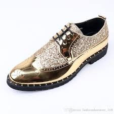 mens genuine leather shoes men gold brogues patent leather formal dress shoes british style wedding oxford shoes for men shoes dansko shoes from