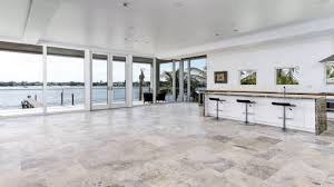 5sf travertine glass tan fossil stone tile kitchen backsplash wall floor