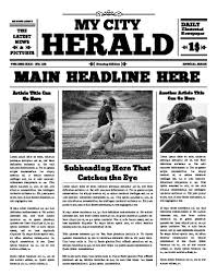 Old Newspaper Article Template Free Newspaper Templates Print And Digital Makemynewspaper Com