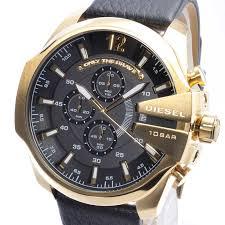 diesel dz4344 watch mega chief black dial leather gold review mens diesel dz4344 watch mega chief black dial leather gold review mens dz4344 ディーゼムブラック レザー レビュー メンズ