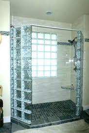 glass block shower kits stallation canada corner walk in glass block shower kits
