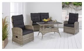 Garten Lounge Mit Verstellbarem Tisch