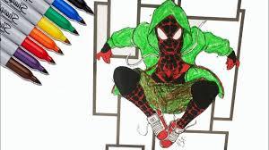 1 763 865 просмотров 1,7 млн просмотров. Spider Man Miles Morales Black Spider Coloring Pages Sailany Coloring Kids Youtube