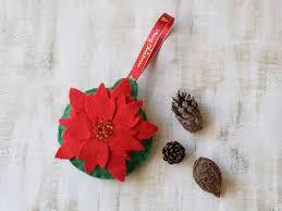 Weihnachten Rote Weihnachts Stern Verzierung Filz Weihnachts